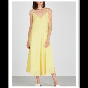 VINCE, Yellow layered midi dress